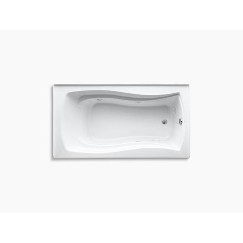 "White 66"" X 36"" Alcove Whirlpool With Integral Apron, Integral Flange and Right-hand Drain"