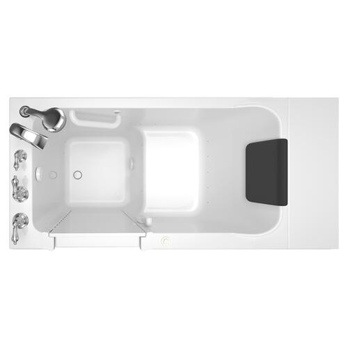 Luxury Series 28x48-inch Walk-in Tub Air Spa with Tub Faucet  American Standard - White