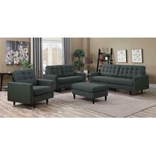 Kesson Mid-century Modern Brown Three-piece Living Room Set