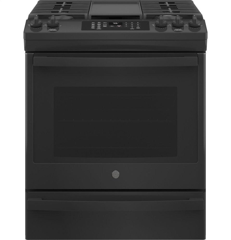 "GE30"" Slide-In Front-Control Convection Gas Range With No Preheat Air Fry"