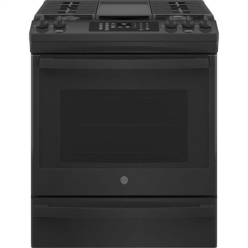 "30"" Slide-In Front-Control Convection Gas Range with No Preheat Air Fry"