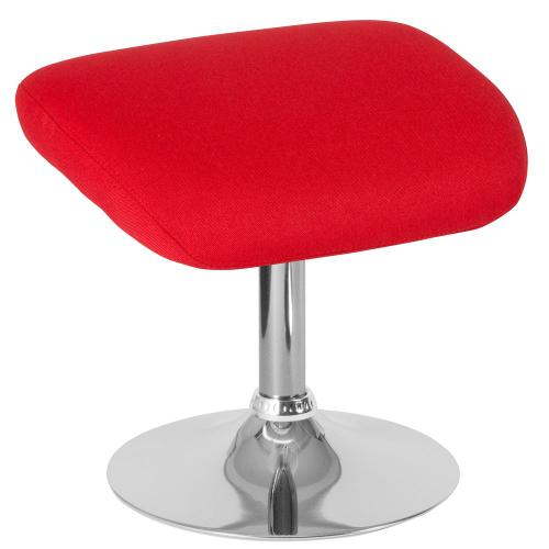 Red Fabric Ottoman