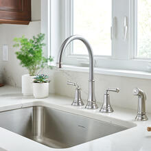Delancey Widespread Kitchen Faucet  American Standard - Stainless Steel