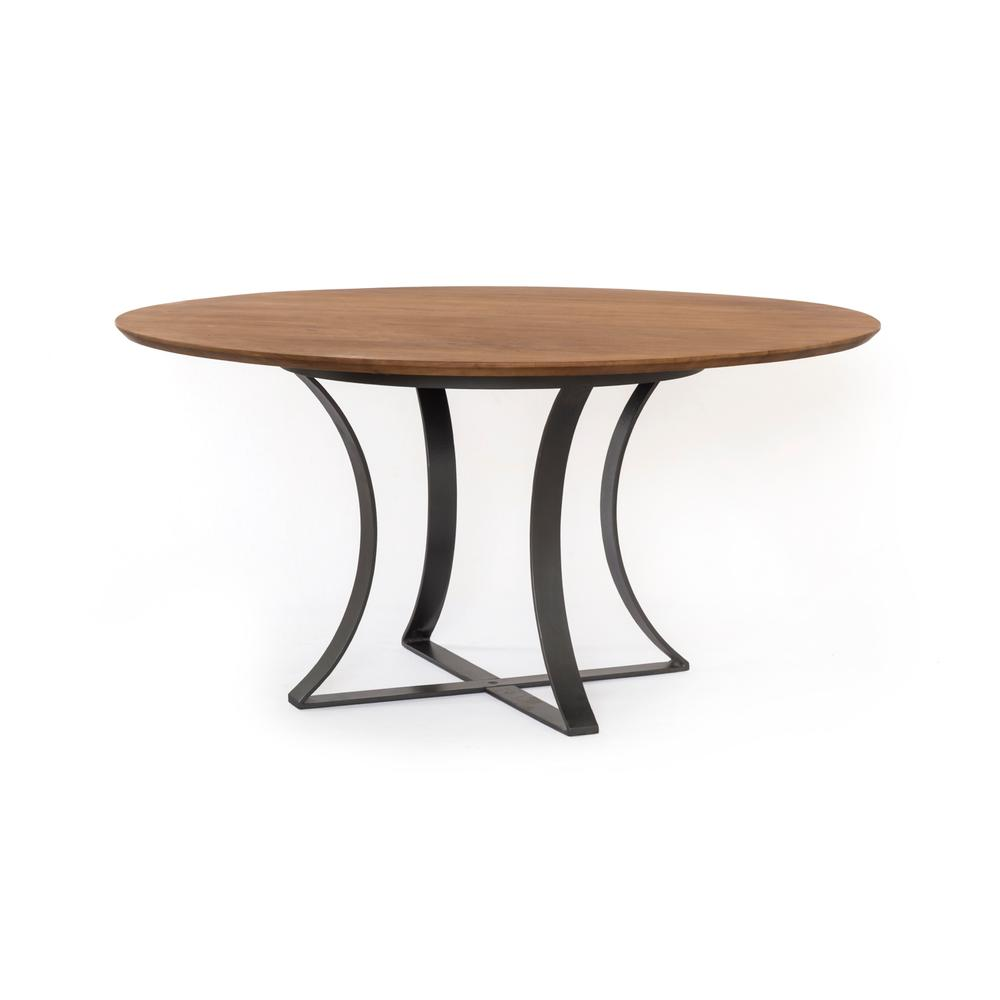 """See Details - Light Acacia Finish 60"""" Size Gage Dining Table"""