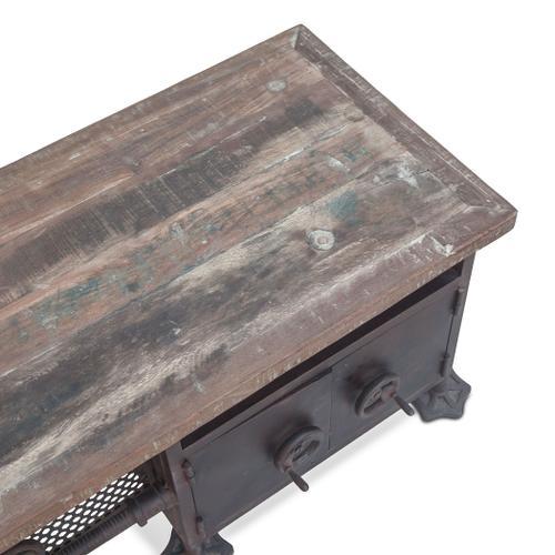 """Steampunk 74"""" Low Sideboard Cabinet"""