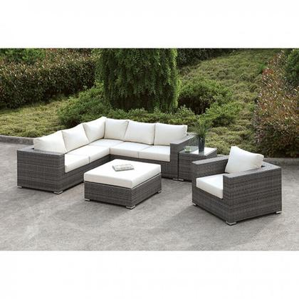 See Details - Somani L-sectional + Chair + Coffee Table + End Table