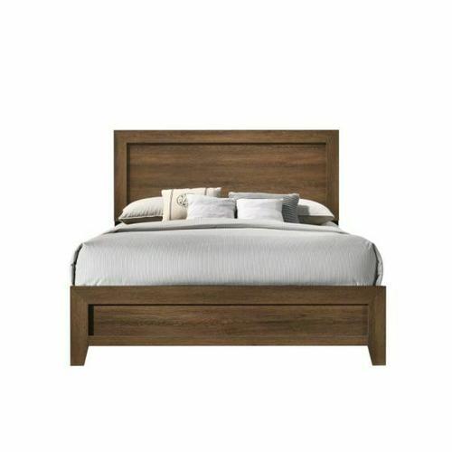 ACME Miquell Queen Bed - 28050Q - Transitional - Veneer (Paper, LVB), PB, MDF, Chipboard - Oak