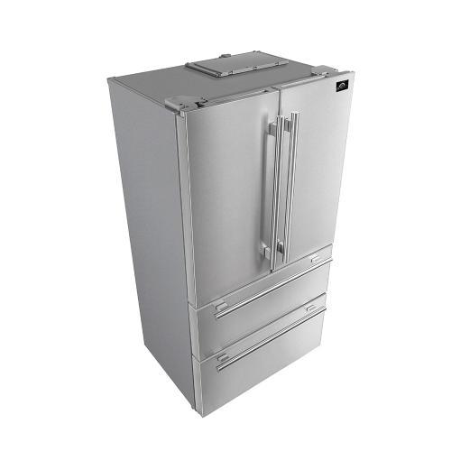 "Forno - Moena - 36"" French Door Refrigerator 19cu.ft"