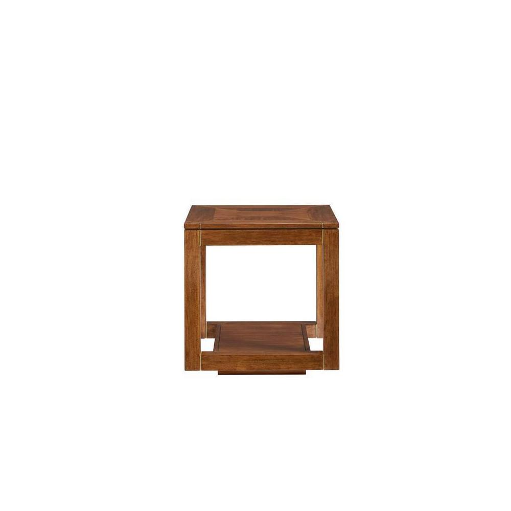 Panavista Floating Parsons End Table - Goldenrod
