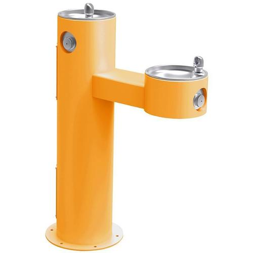 Elkay - Elkay Outdoor Fountain Bi-Level Pedestal Non-Filtered, Non-Refrigerated Yellow