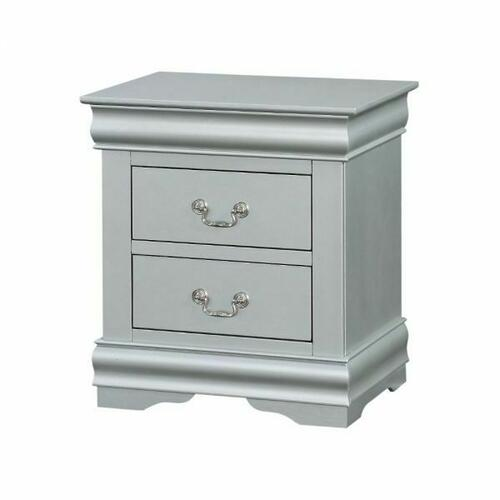 ACME Louis Philippe III Nightstand - 26703 - Platinum
