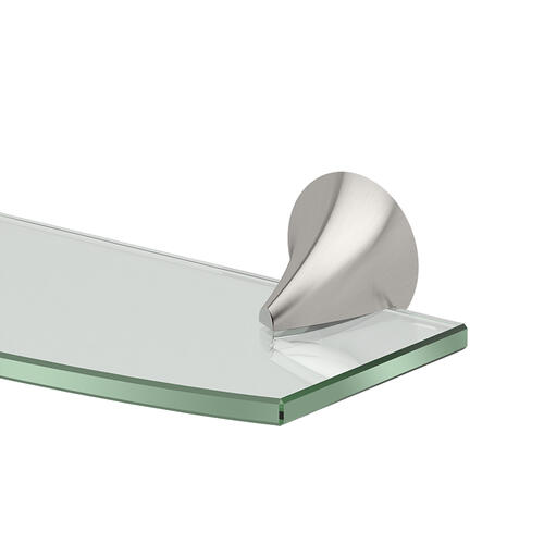 Brie Glass Shelf in Satin Nickel