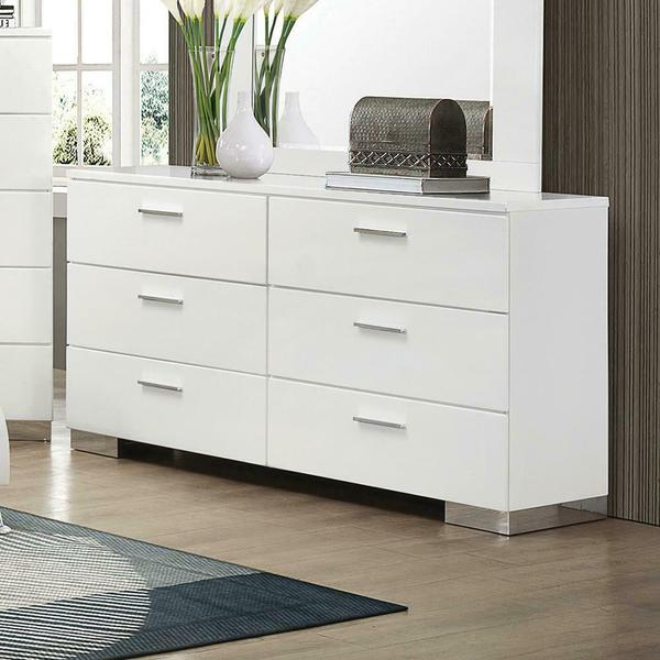 See Details - Felicity Contemporary Six-drawer Dresser