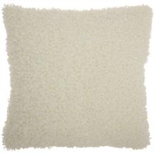 "Faux Fur Fl200 Ivory 22"" X 22"" Throw Pillow"