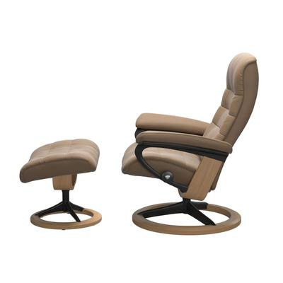 See Details - Stressless® Opal (M) Signature chair with footstool