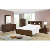 Jessica Dark Cappuccino Queen Four-piece Bedroom Set With Storage Bed Product Image