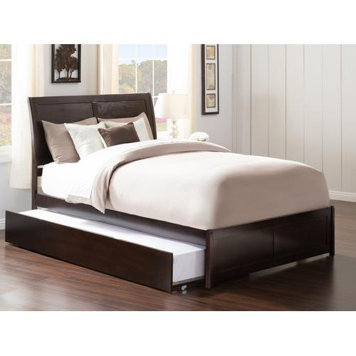 Atlantic Furniture - Portland Full Bed with Matching Foot Board with Urban Trundle Bed in Espresso
