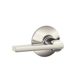 Latitude Lever Hall & Closet Lock - Polished Nickel Product Image