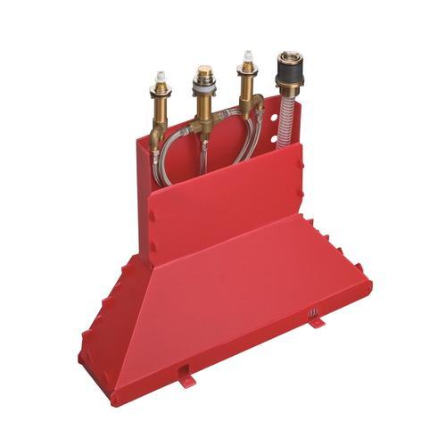 Basic set for 4-hole rim mounted bath mixer