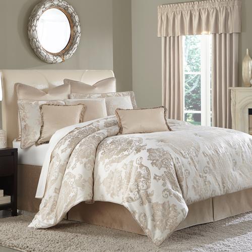 10pc King Comforter Set Creme