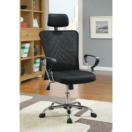 See Details - Casual Black Office Chair With Headrest