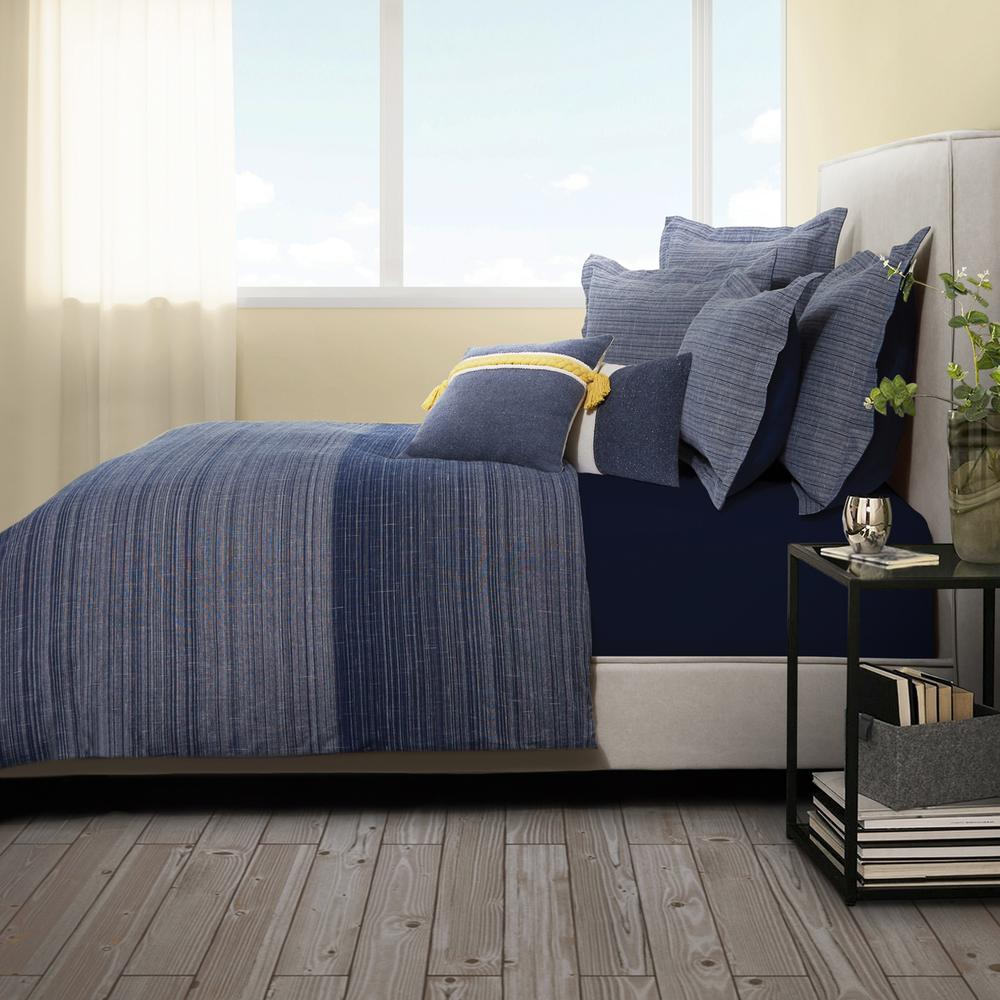 7pc Queen Duvet Set Denim