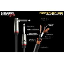 Instrument Cable - Braided, MicroFiber® Dielectric - Monster® Performer 600 (Angled) - 18 in.