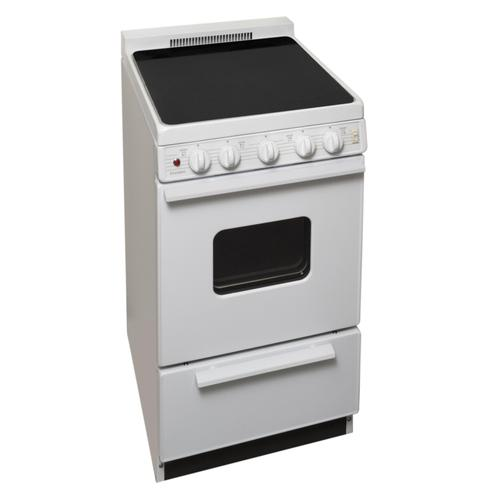 Premier - 20 in. Freestanding Smooth Top Electric Range in White
