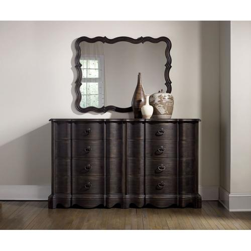 Bedroom Corsica Dark Eight Drawer Dresser