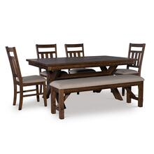 Turino Rustic Umber 6 PC Dining Set