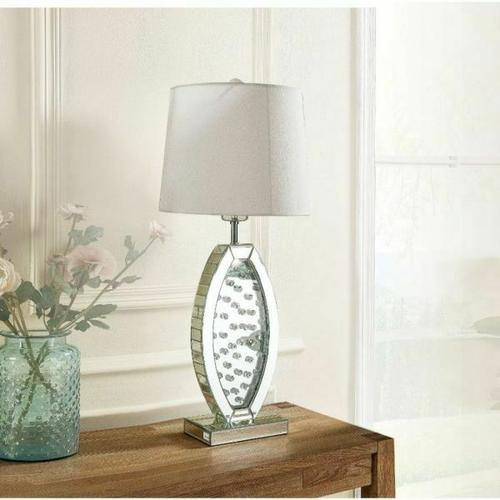 ACME Nysa Table Lamp - 40215 - Mirrored & Faux Crystals