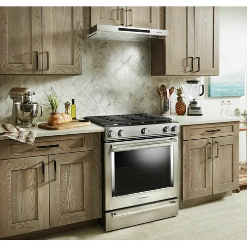 "KitchenAid - 30"" Low Profile Under-Cabinet Ventilation Hood - Stainless Steel"