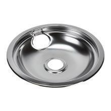 See Details - Electric Range Round Burner Drip Bowl, Chrome