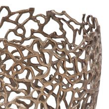View Product - Bronze Aluminum Branch Basket, Small