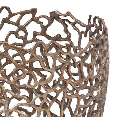 Howard Elliott - Bronze Aluminum Branch Basket, Small