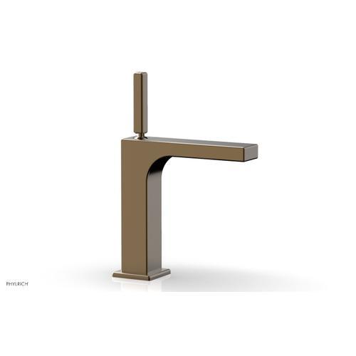 MIX Single Hole Lavatory Faucet, Blade Handle 290-06 - Antique Brass