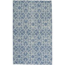 Vintage-Courtyard Blue - Rectangle - 5' x 8'