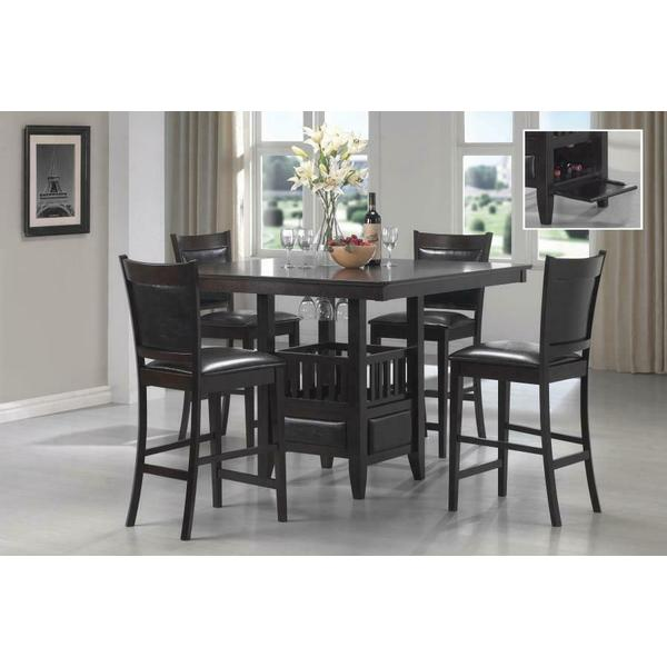 See Details - Jaden Transitional Cappuccino Five-piece Counter-height Dining Set