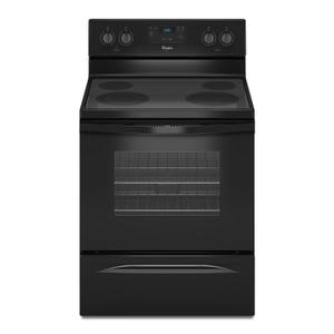 4.8 Cu. Ft. Freestanding Electric Range with FlexHeat Dual Radiant Element Black -