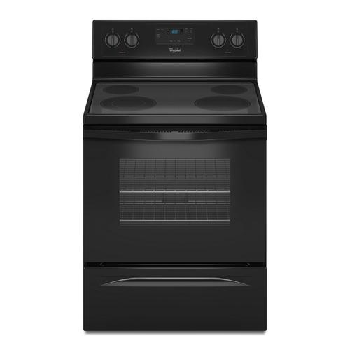 4.8 Cu. Ft. Freestanding Electric Range with FlexHeat Dual Radiant Element Black