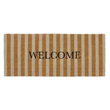 See Details - Doormat Striped Welcome Natural 24x57