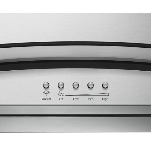 30 inch Convertible Glass Kitchen Ventilation Hood with Glass Edge LED Lighting