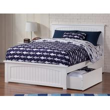 View Product - Nantucket Full Bed with Matching Foot Board with 2 Urban Bed Drawers in Espresso