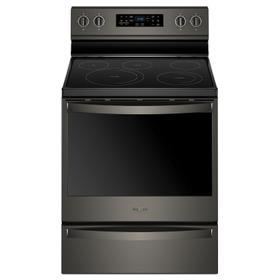 6.4 cu. ft. Freestanding Electric Range with Frozen Bake™ Technology Fingerprint Resistant Black Stainless