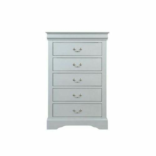 ACME Louis Philippe Chest - 26736 - Platinum