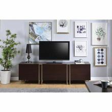ACME Cattoes TV Stand - 91795 - Dark Walnut & Nickel