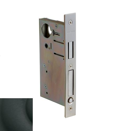 Satin Black 8632 Pocket Door Lock with Pull