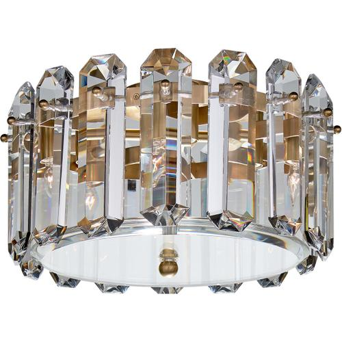 AERIN Bonnington 4 Light 14 inch Hand-Rubbed Antique Brass Flush Mount Ceiling Light, Small