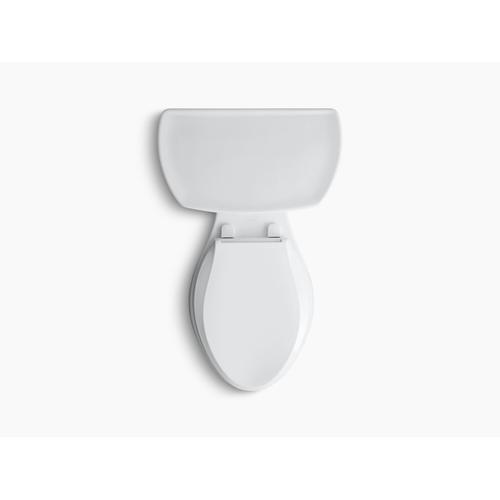 """Kohler - Biscuit Two-piece Elongated 1.28 Gpf Toilet With Right-hand Trip Lever and 14"""" Rough-in"""