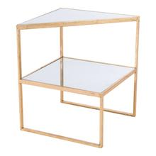 Planes Side Table Gold & Mirror